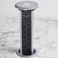 Fully Motorised Worktop Pop Up Socket - 3 x UK Sockets & 2 USB Ports