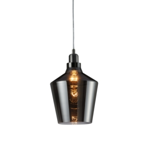 Dover Pendant Ceiling Light, Smoked Glass
