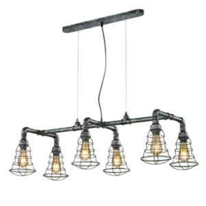 Gotham 6 Light Drop Industrial Pendant Lighting