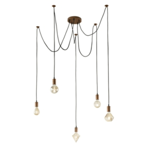 Leyton Lighting 5 Light Cord Ceiling Pendant Light