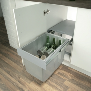 EKKO 40 Pull-Out Waste Bin, 24/34 Litres