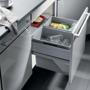 Hailo Euro-Cargo Soft Close 60 Waste Bin, 56 Litre Capacity