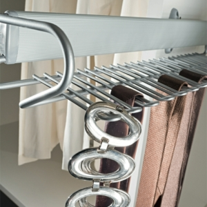 Vibo DREAM Pull Out Tie Rack and Belt Rack, Side Mounted