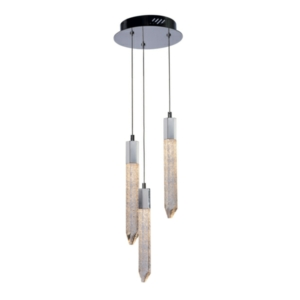 Shard 3 Light LED Ceiling Drop Pendant IP20 Rated