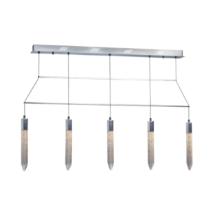 Shard 5 Light LED Ceiling Bar Pendant light, IP20 Rated