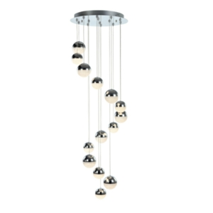 Eclipse 14 Light Round Drop Adjustable LED Ceiling Pendant