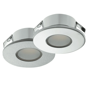 Loox 12V 2022 Round LED Recessed Downlight - Silver Finish