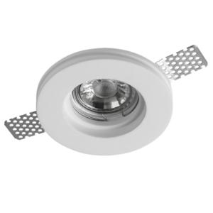 Leon - Gypsum Plaster-In Recessed Baffled Ceiling Downlight