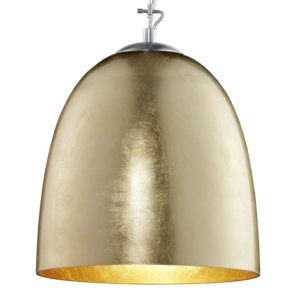 Ontario Gold And Chrome Glass Pendant Light