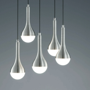 Tear Drop Aluminium And Acrylic Modern Pendant lighting