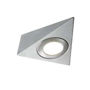 Capella 240V Mains Voltage Triangle Under Cabinet Downlight