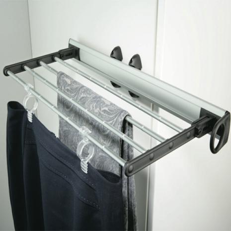 Extending Rail Wardrobe Storage Organiser Trouser Rack Pull-out Clothes Hanger