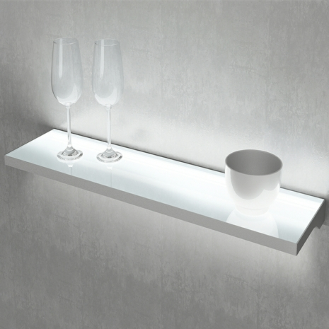Designer Illuminated Led Floating Box Shelf Light By