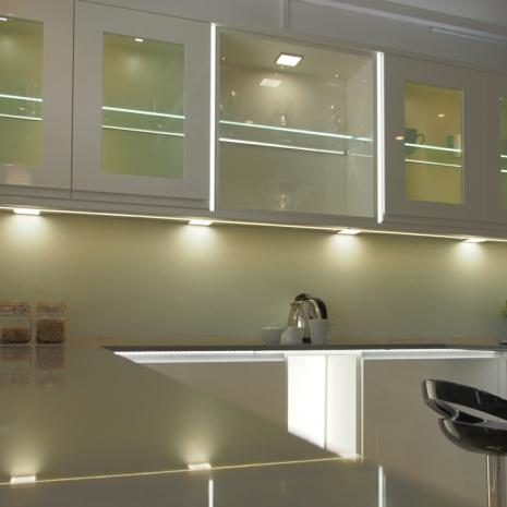 sirius under cabinet high output led flat panel square light. Black Bedroom Furniture Sets. Home Design Ideas