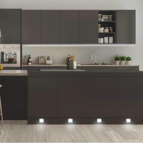 Vega 33mm Square Kitchen Plinth Light - 4 Light Kit