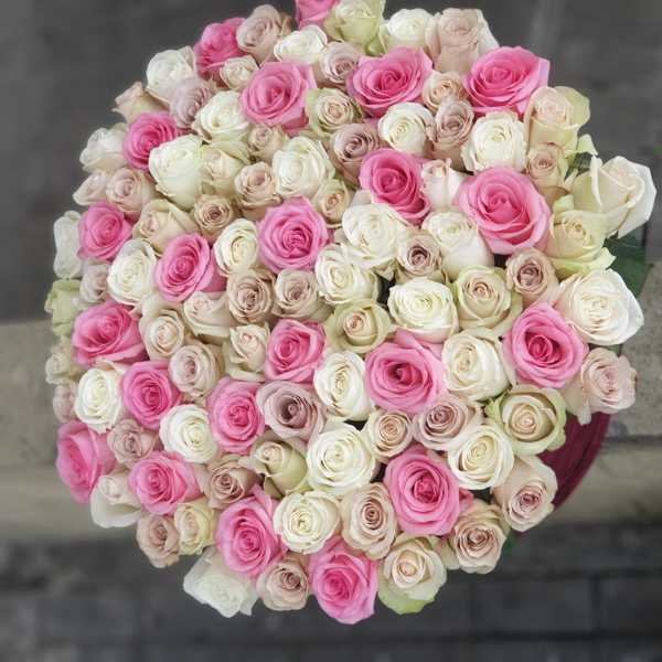 VIP цилиндр из 101 розы