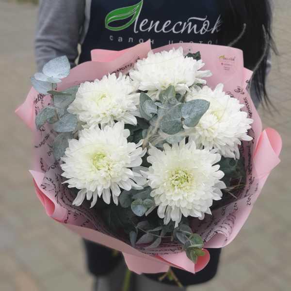 Букетик из одноголовых хризантем Антонов