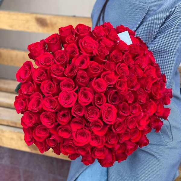 Букет из 101 импортной розы