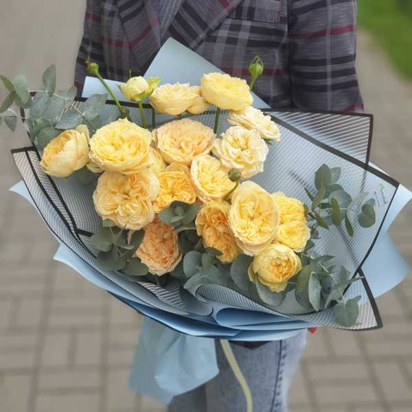 Монобукет из пионовидной розы Каталина