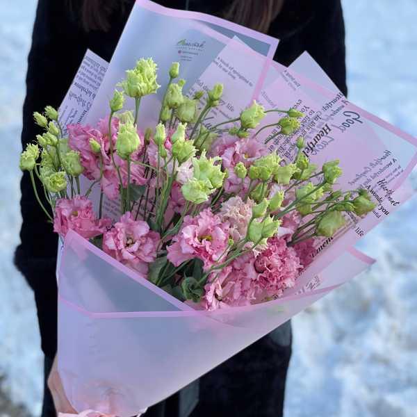 Охапка розовых лизиантусов