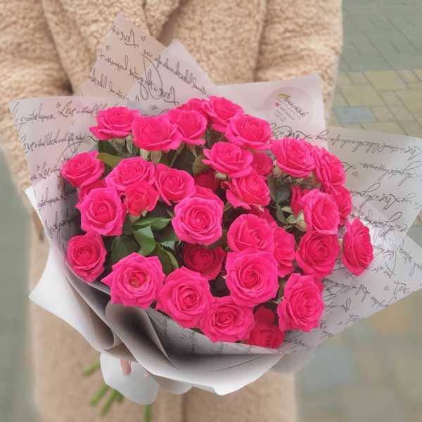 Монобукет из кустовых роз Квинси