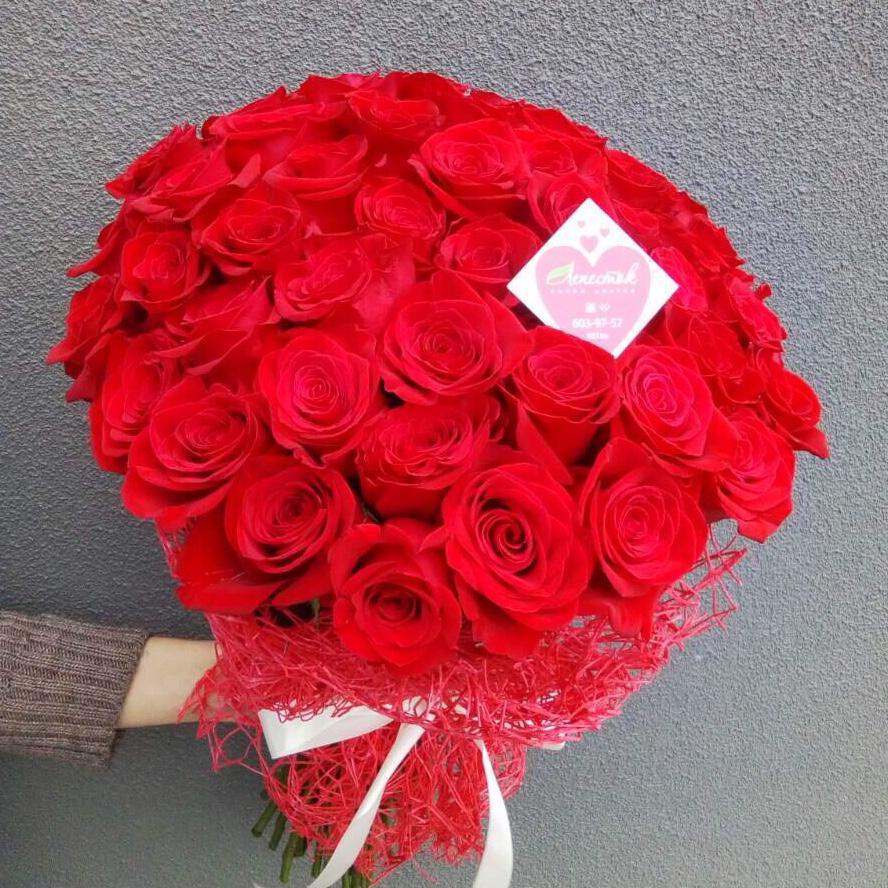 Букет из 51 розы красного цвета