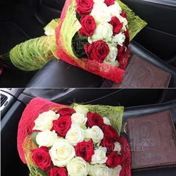 21 роза микс.