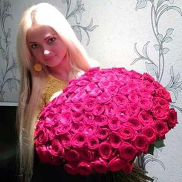 101 красная роза 60 сантиметров