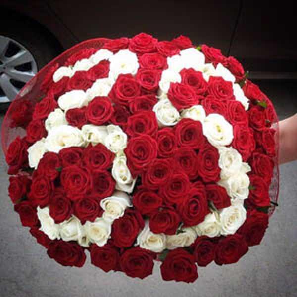 Букет из 101 розы цифра 35
