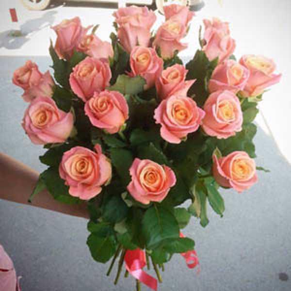 Букет из 21 розы Мис Пиги 60 см