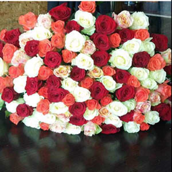 101 роза микс из 4 цветов