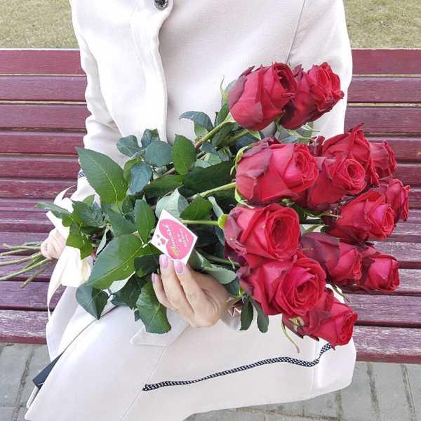 Букет из 11 метровых импортных роз