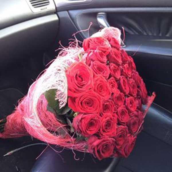 29 роз красного цвета