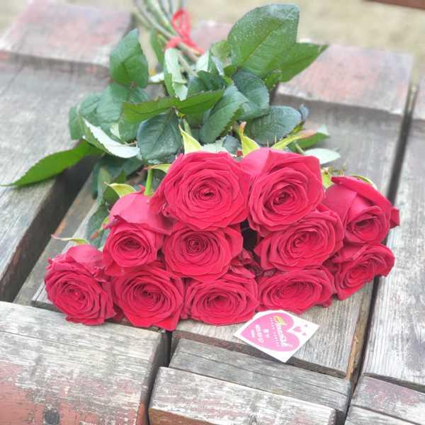 11 красных белорусских роз