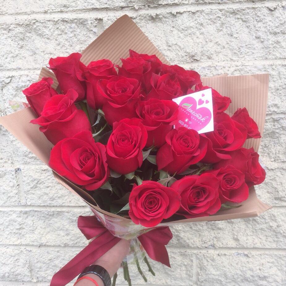 Букет из 21 шикарной импортной розы