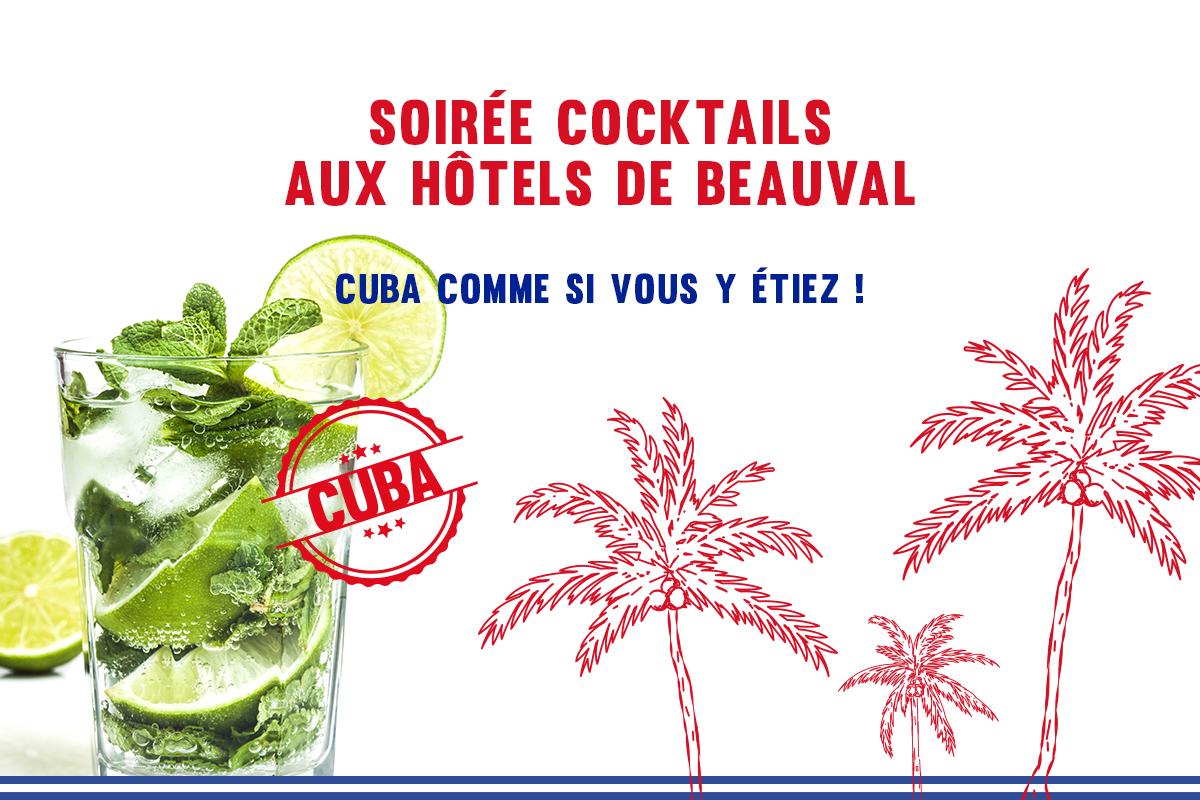 Soirée cocktail aux Hôtels de Beauval – Cuba comme si vous y étiez !