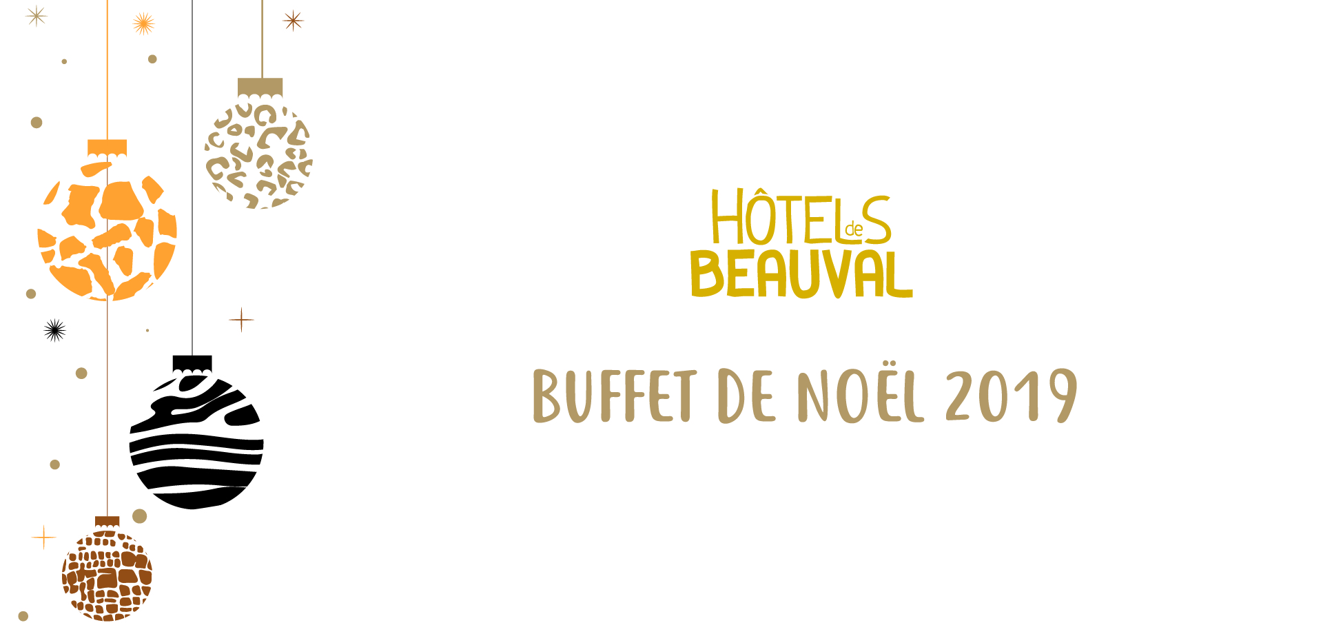 Savourez le buffet de Noël des Hôtels de Beauval !