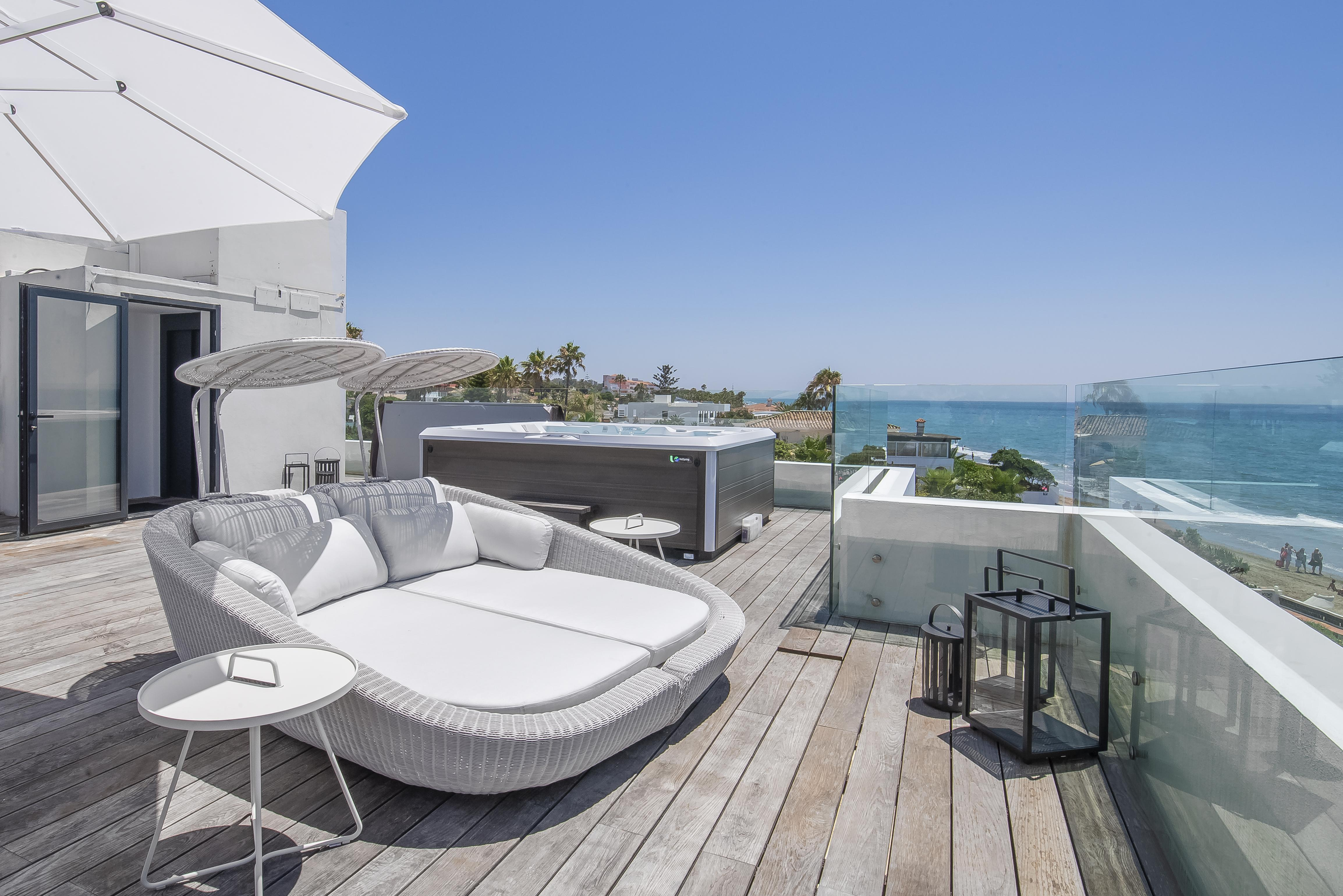 Costabella Beachfront, Villa available for Holiday Rental in Las Chapas, Marbella, Spain
