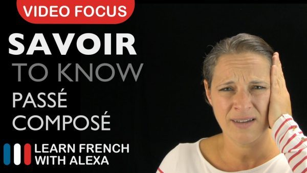 Savoir (to know) - French verb past tense
