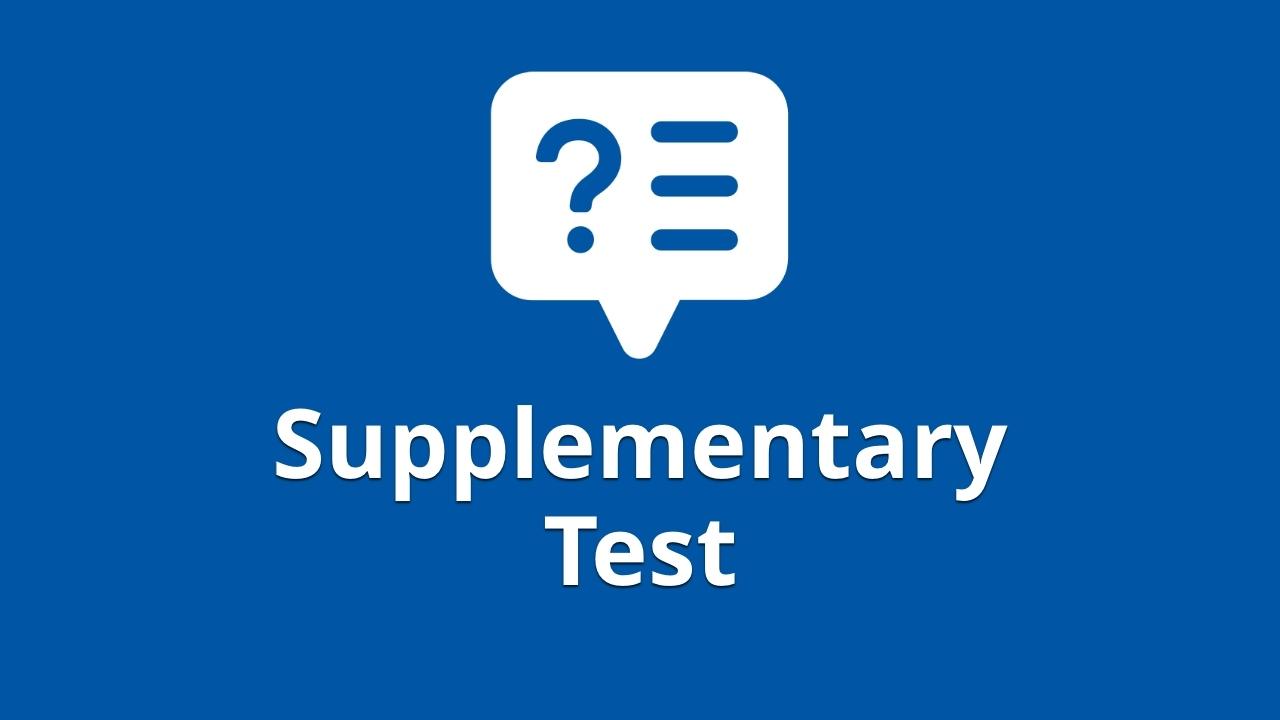 Supplementary test