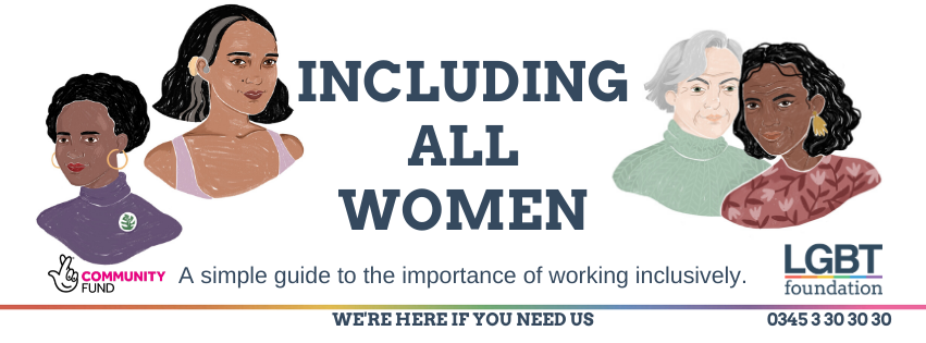 """Heading for page reads """"Including All Women, a simple guide to the importance of working inclusively"""""""