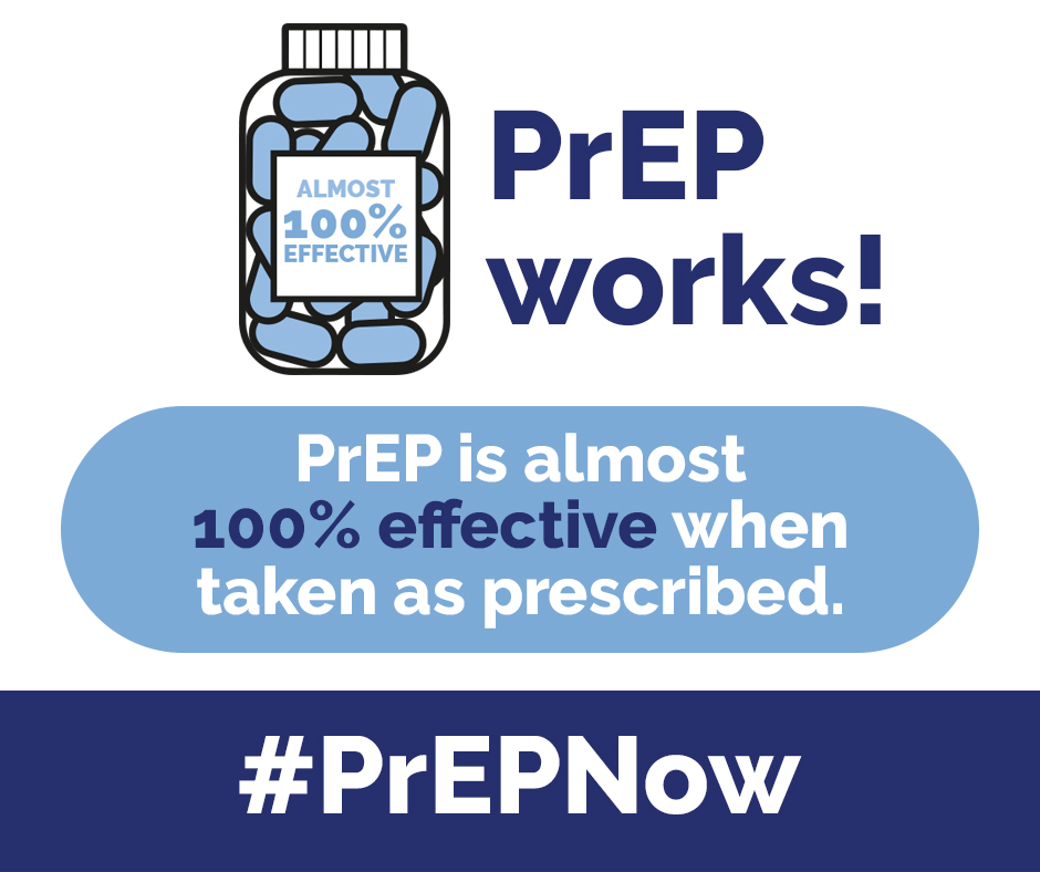 PrEP is almost 100% effective when taken as prescribed