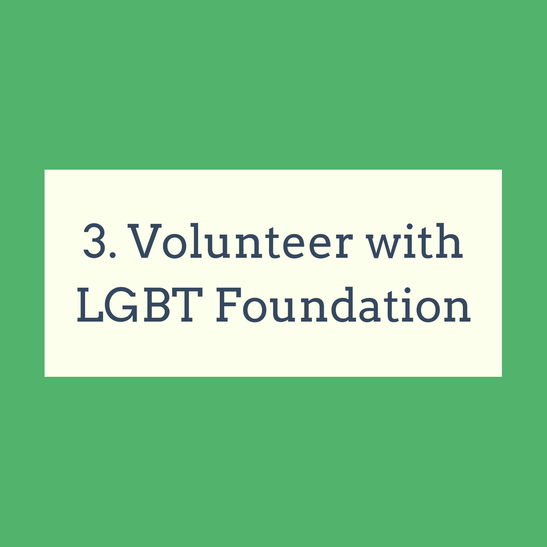 Volunteer with the LGBT Foundation