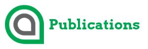 Publications button white background green text AFA logo