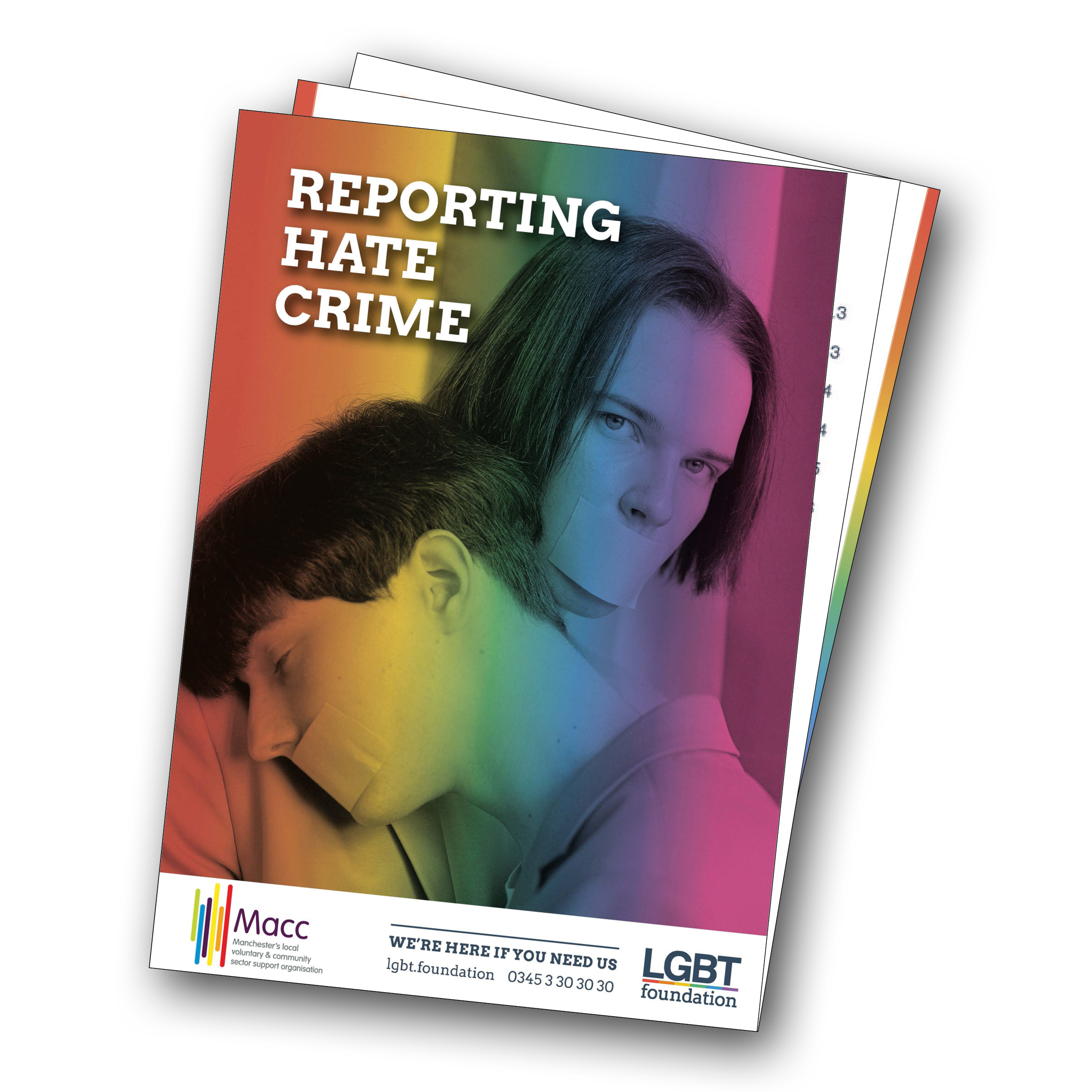 Image of the cover of a guide on reporting LGBT hate crime