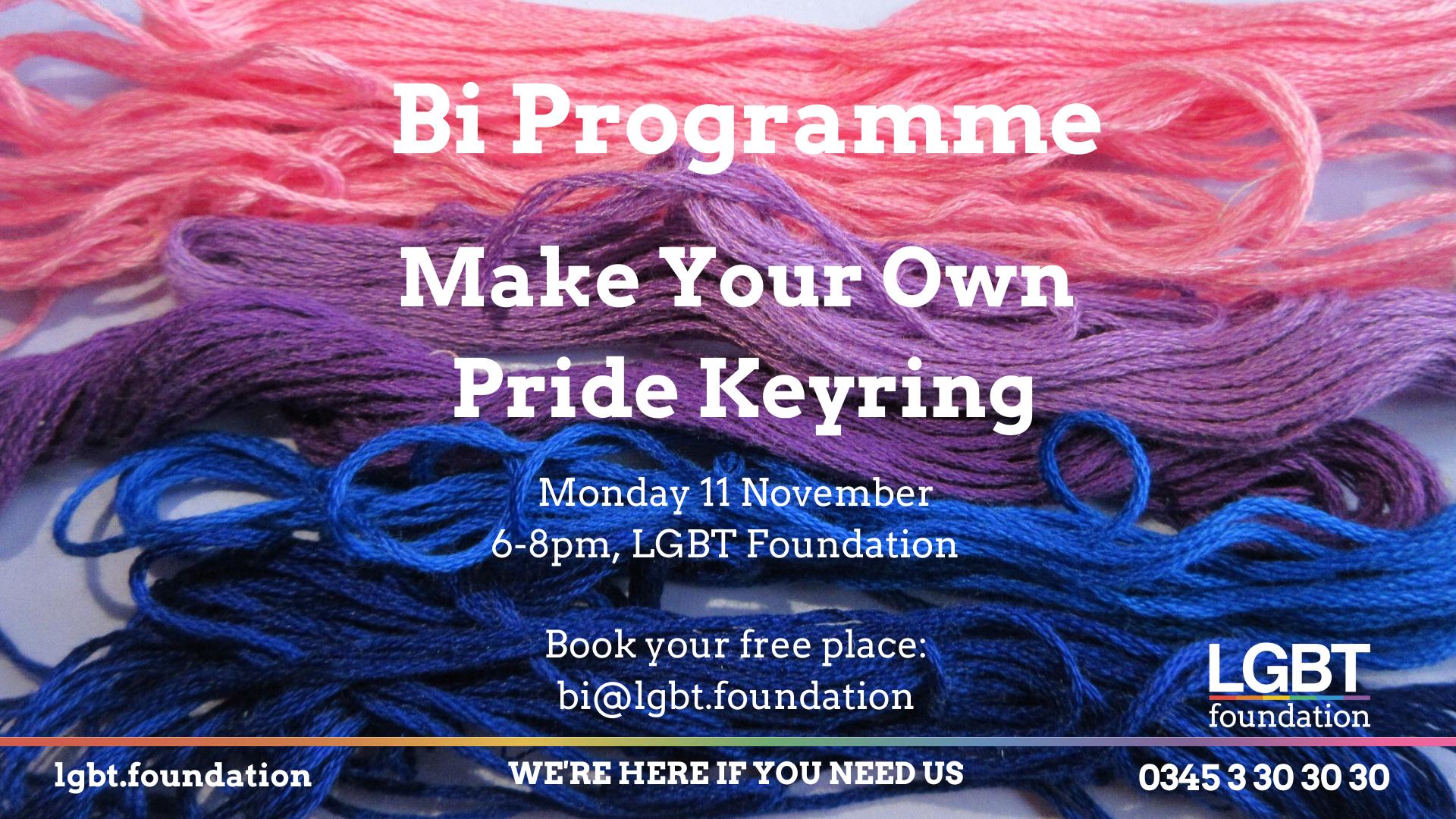 Make your own Pride Keyring