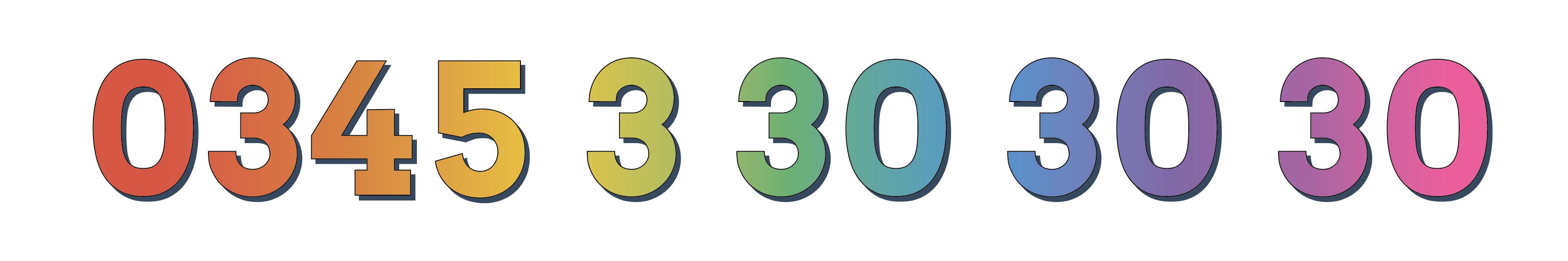 0345 3 30 30 30