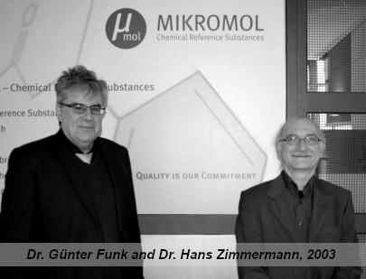 Dr. Günter Funk and Dr. Hans Zimmermann in 2003