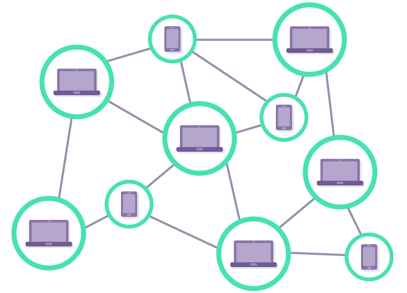 Blockchain as a peer-to-peer network