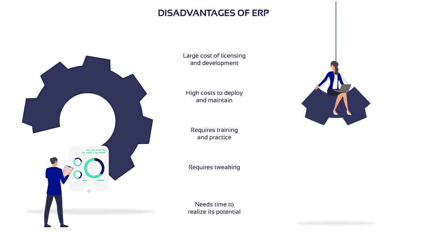 Disadvantages of ERP diagram